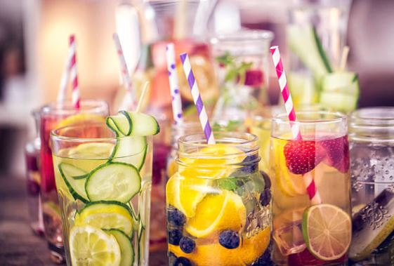 Fresh drinks for hot summer working hours